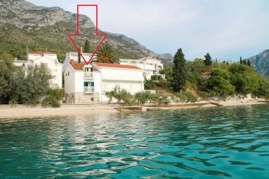 Apartmanok Bale - right at the beach: A1 Plaza(4) Brist - Riviera Makarska